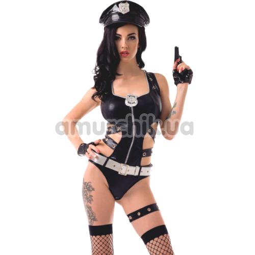 Костюм полицейской LeFrivole Police Costume, чёрный