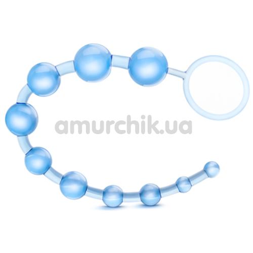 Анальная цепочка B Yours Basic Beads, голубая - Фото №1