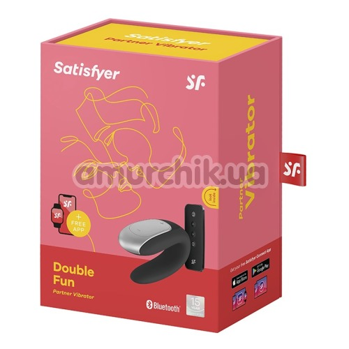 Вибратор Satisfyer Double Fun Partner Vibrator, черный