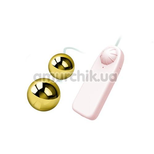 Вагинальные шарики с вибрацией Golden Ball, золотые
