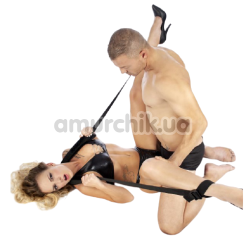 Фиксаторы для ног Fetish Tentation Neck and Ankle Straps, черные