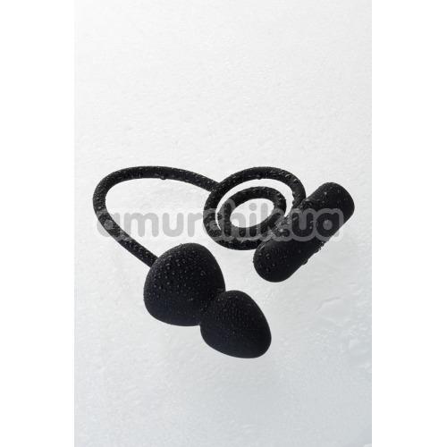 Анальная пробка с виброкольцом Erotist Ruffle M-Size, черная