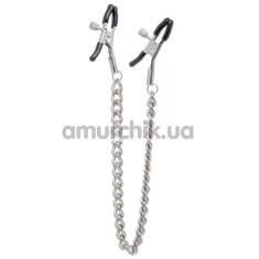 Зажимы для сосков с цепочкой Lucky Bay Nipple Play Chain Heavy Metall, серебряные - Фото №1