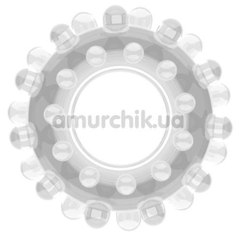 Эрекционное кольцо Power Plus Cock Ring Series LV1433, прозрачное - Фото №1