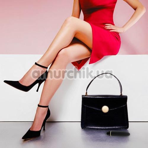 Вибратор Rianne S Classique Vibe Stud с черной сумкой, черный