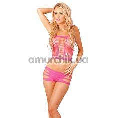 Купить Комплект Seamless Slits Hotshort Set розовый: топ + трусики-шортики