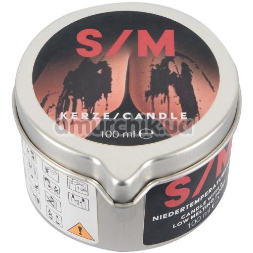 Свеча S/M Kerze Candle 100 мл, черная