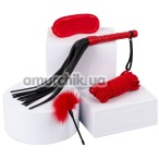 Бондажный набор sLash Passion BDSM Leather Set, красный - Фото №1
