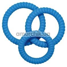 Набор эрекционных колец Lust 3 Blue, 3 шт - Фото №1