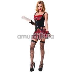 Костюм школьницы LeFrivole Schoolgirl Costume, красный - Фото №1