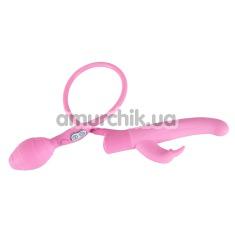 Вибратор Smile Inflatable Vibe Rosy Bunny, розовый - Фото №1