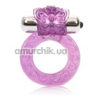 Виброкольцо Intimate Butterfly Ring, фиолетовое