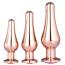 Набор из 3 анальных пробок с розовым кристаллом Gleaming Love Pleasure Plug Set, розовый - Фото №1