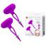 Стимуляторы для сосков с вибрацией Pretty Love Bancroft, фиолетовые - Фото №5