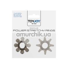 Набор эрекционных колец Power Stretchy Rings, 2 шт черный