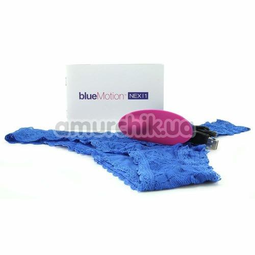 Клиторальный вибратор OhMiBod BlueMotion Nex 1, голубой