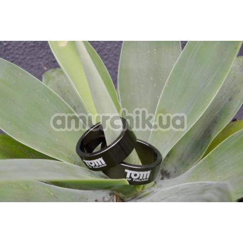 Эрекционное кольцо Tom of Finland 50mm Aluminum Cock Ring, черное