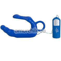 Вибростимулятор простаты для мужчин Mens Pleasure Wand Extra Large, 20 см синий - Фото №1