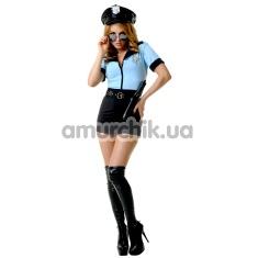Костюм полицейской LeFrivole Police Officer Costume, голубой - Фото №1