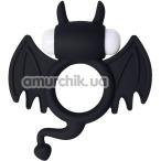 Эрекционное кольцо с вибрацией JOS Cocky Devil, черное - Фото №1