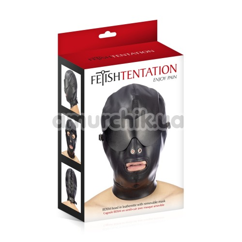 Маска Fetish Tentation Enjoy Pain BDSM Hood With Mask, черная