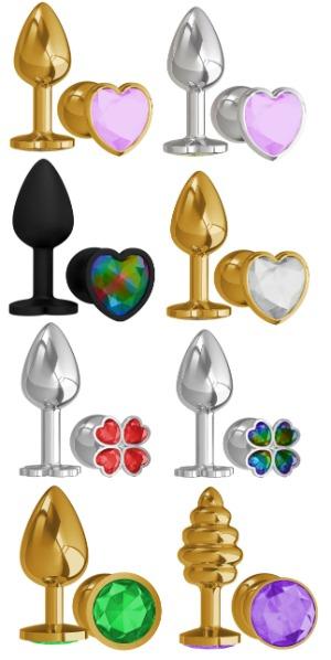Анальные пробки с кристаллами на любой вкус и цвет