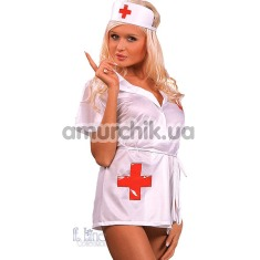 Костюм медсестры Inez: платье-халатик + чепчик - Фото №1
