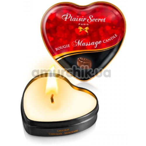 Массажная свеча Plaisir Secret Paris Bougie Massage Candle Chocolate - шоколад, 35 мл - Фото №1