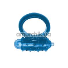 Виброкольцо Silicone Soft Cock Ring Vibro голубое - Фото №1