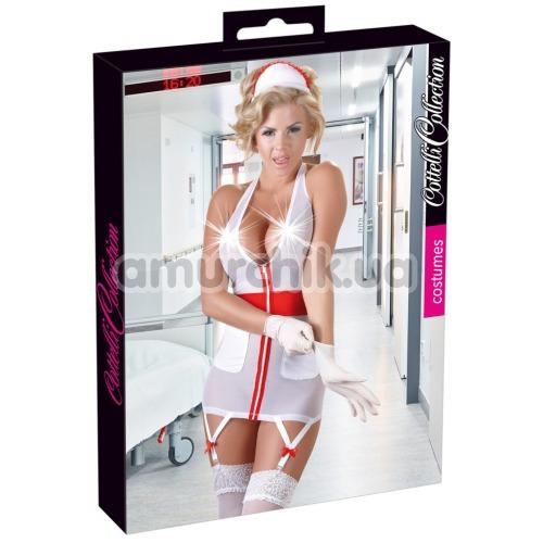 Костюм медсестры Cottelli Collection Costumes 2470578 белый: платье + шапочка