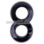 Эрекционное кольцо Get Lock Duo Cock 8 Ball Ring, черное - Фото №1