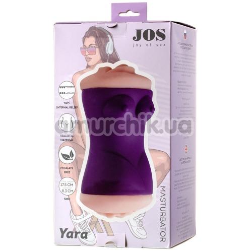 Мастурбатор Jos Yara, фиолетовый