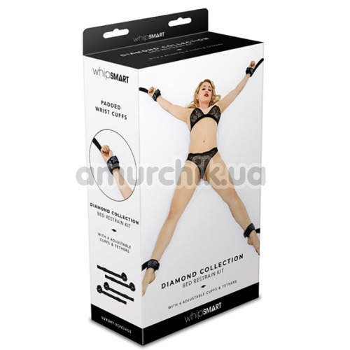 Фиксаторы для рук и ног Whipsmart Diamond Colleсtion Bed Restrain Kit, черные