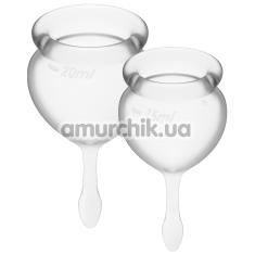 Набор из 2 менструальных чаш Satisfyer Feel Good, прозрачный - Фото №1