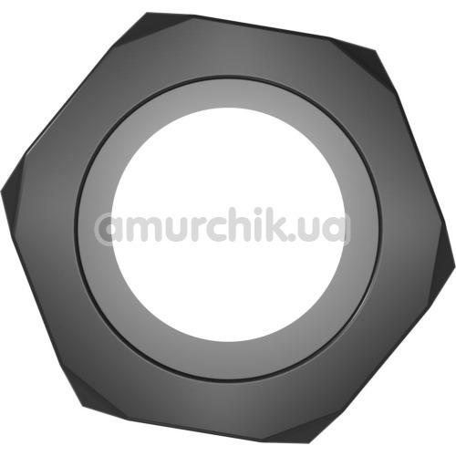 Эрекционное кольцо Get Lock Nust Bolts Cock Ring, черное