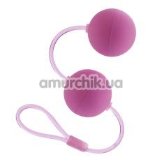 Вагинальные шарики First Time Duo Lover, розовые - Фото №1
