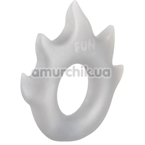 Эрекционное кольцо Fun Factory Flame, серебряное