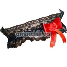 Подвязка с бантиком, черная - Фото №1