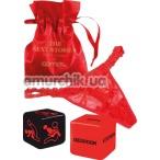 Комплект Admas The Sexy Stories красный: кружевные трусики-стринги + игральные кубики - Фото №1