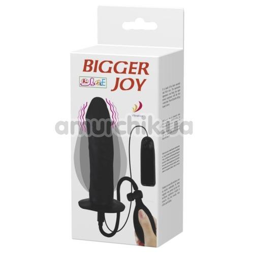 Анальный расширитель с вибрацией Bigger Joy Inflatable Penis, черный