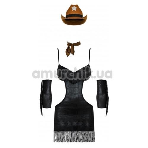 Костюм шерифа Obsessive Sheriffia, чёрный