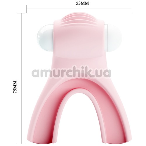 Насадка для орального секса с вибрацией Pretty Love Magic Lip, светло-розовая