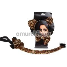 Костюм леопарда: ушки + хвостик + бантик - Фото №1