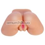Искусственная вагина и анус с вибрацией Realstuff The Perfect Booty, телесная - Фото №1