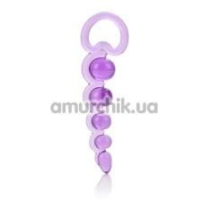 Анальная цепочка Basic Essentials Beaded Probe фиолетовая - Фото №1