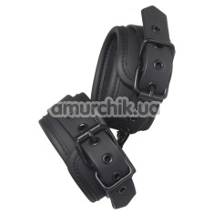 Поножи Blaze Luxury Fetish Ancle Cuffs, черные - Фото №1