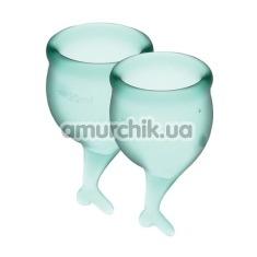 Набор из 2 менструальных чаш Satisfyer Feel Secure, зеленый - Фото №1