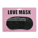 Маска на глаза Love Mask, черная - Фото №1
