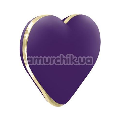 Клиторальный вибратор Rianne S Heart Vibe, фиолетовый - Фото №1