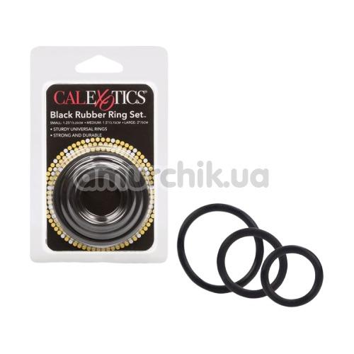 Набор эрекционных колец Black Rubber Ring Set, 3 шт